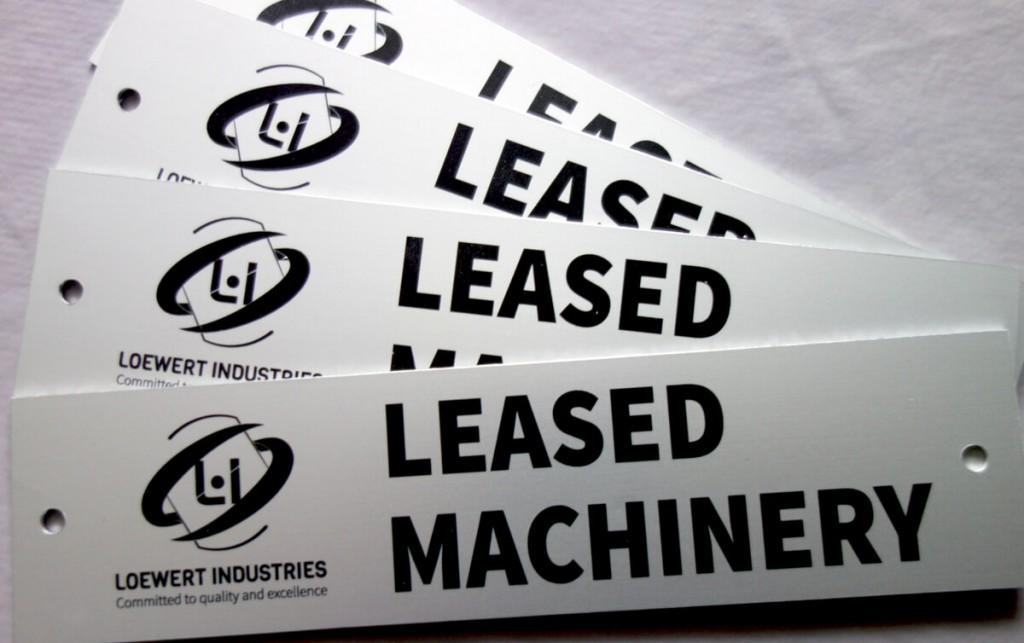 Loewert Industries - Plaquette métallique signalétique