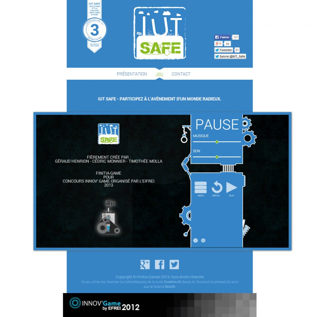 IUT Safe - Site web
