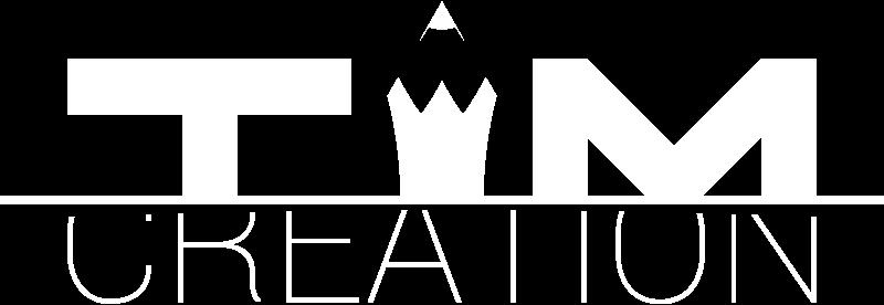 Logo blanc Tim Création