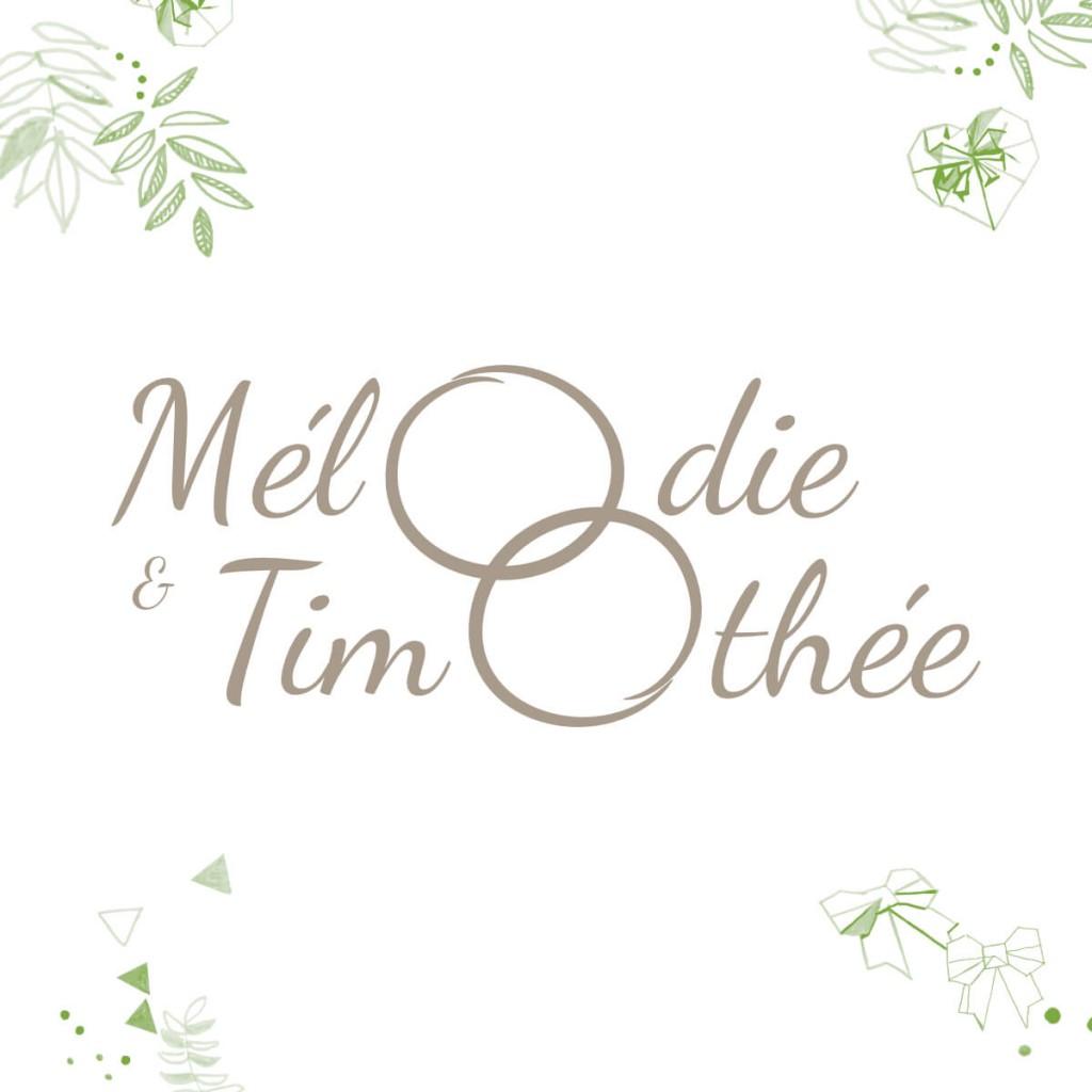 Mel & Tim Mariage - Logo