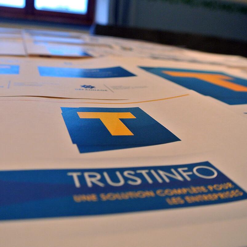 Trustinfo - Logo imprimé