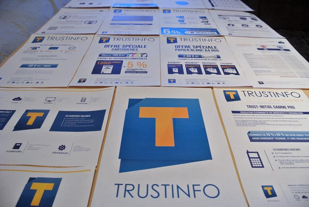 Trustinfo - plaquettes commerciales